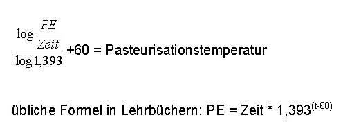 Berechnung WT incl. U-Wert = k-Wert, mittlere logarithmische ...